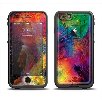 The Mixed Neon Paint Apple iPhone 6 LifeProof Fre Case Skin Set