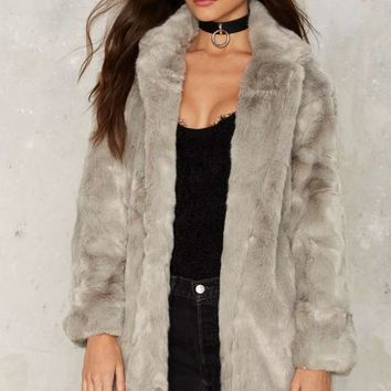 Panic On the Streets Faux Fur Coat