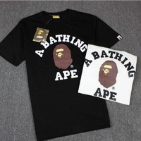 qiyif Bape Head Pattern A Bathing Ape Cotton Tee Shirt S-XL