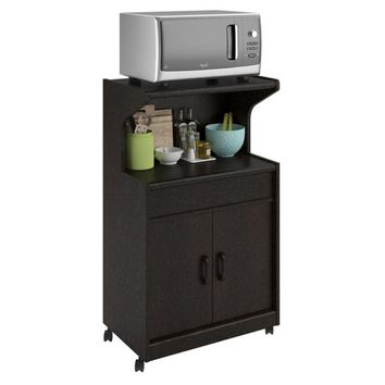 Altra Furniture Altra Newton Microwave Cart with Shelf - Espresso - Microwave Carts at Hayneedle