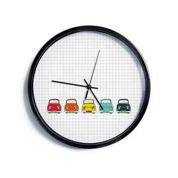 "MaJoBV ""Boys Rock"" Multicolor Cars Modern Wall Clock"