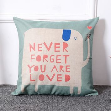 Elephant You Are Loved Pillow case