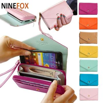 Wallet Women's Fashion Lovely Crown Concise Wallet Purse Cluth cute Card Holders Mobile Phone Bags for iPhone 5 Samsung S3 B704