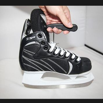 Professional Tight Shoes-lace Ties Gear Tool With Hook Foldable Portable For Ice Skating Figure Skating Shoes Ting