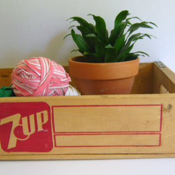 Seven Up Wood Crate 7Up Vintage by RollingHillsVintage on Etsy