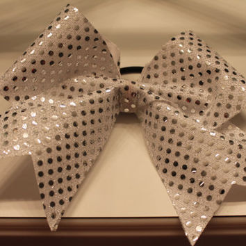 Sequin Sparkle Cheer Bow by AnnelinesBowtique on Etsy