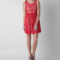 Blu Pepper Eyelash Lace Dress