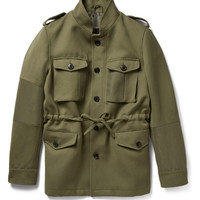 Wooster + Lardini - Ramie and Wool-Blend Canvas Field Jacket | MR PORTER