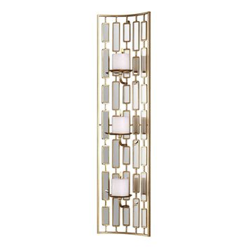 Loire Mirrored Candle Wall Sconce by Uttermost