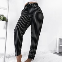 RESTOCKED! ELLIE STRIPED PANTS - LARGE