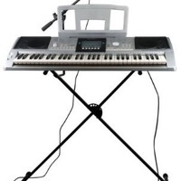 Spectrum AIL 599 iRock Digital Music Studio 61-Note Electric Keyboard with Full Accessories Pack, Stand and Mic Boom