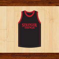 Lucas Sinclair 13 Stranger Things Basketball Jersey by Morrissey&Macallan