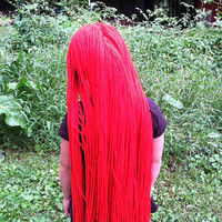 Long Red Wig, Sally Wig, Nightmare Before Christmas Wig, Sally Costume, Sally Nightmare before Christmas, Kids Halloween Costumes