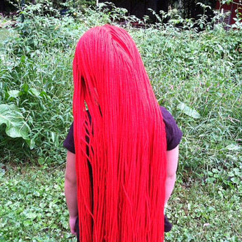 long red wig sally wig nightmare before christmas wig sally costume sally - Sally Nightmare Before Christmas Wig