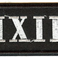 The Pixies Iron-On Patch Rectangle White Letters Logo