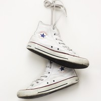 White Leather Converse All Star Hightops