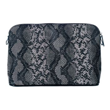 Toss Python Sabrina Cosmetic - Black/Grey