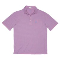 Macon Striped 4-Button Polo in Calyspo by Johnnie-O
