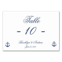 Nautical Wedding Place Cards