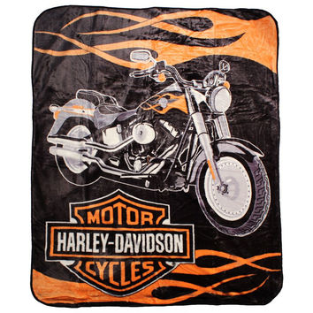 Harley - Fat boy 60x80 Blanket - Free Shipping in the Continental US!
