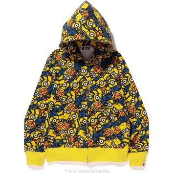 ALL MINIONS FULL ZIP HOODIE MENS