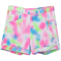 ROMWE | Rolled Cuffs Tie-dyed Shorts, The Latest Street Fashion