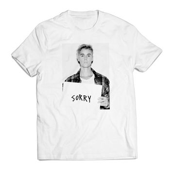 Justin Bieber Sorry Actress Clothing T shirt Men