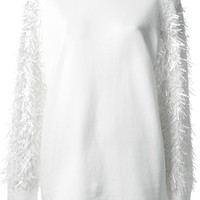 DKNY textured sleeve sweatshirt