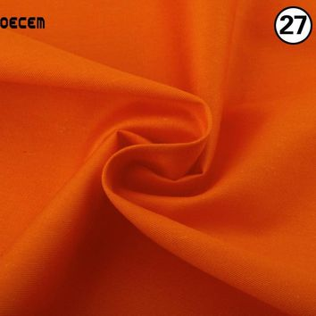 Orange Cotton Fabric Meter Textile Material Sewing Patchwork Fabric Tissues For Sofa Quilting Sheets Bedding Blanklets