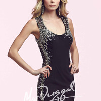 Mac Duggal 82195 - Black Beaded Jersey Homecoming Dresses Online