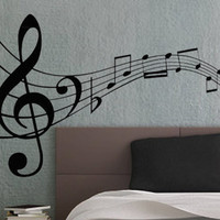Music Notes 3 - uBer Decals Wall Decal Vinyl Decor Art Sticker Removable Mural Modern A863