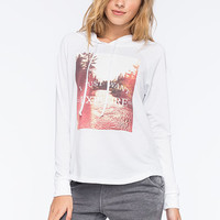 Full Tilt Want To Explore Womens Hoodie White  In Sizes