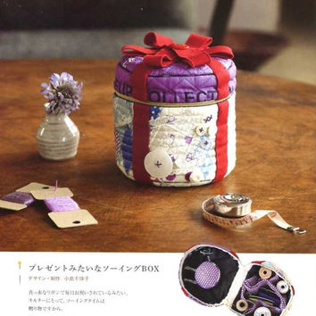 Quilters Sewing Box - Japanese Patchwork Quilt Pattern Book for Quilting Sewing Case - Kawaii Japan Zakka Style - Easy Tutorials - B1186