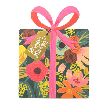 Birthday Present Die Cut Card