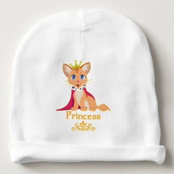 Princess Kitten Baby Beanie