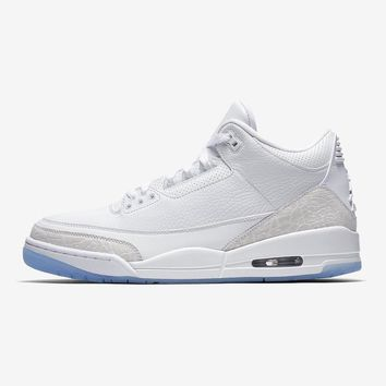 "Air Jordan 3 ""Pure White"" AJ3 Retro Sneakers - Best Deal Online"
