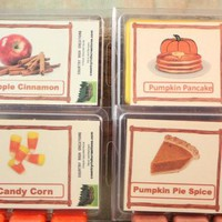 Wax Tart Taste of Fall Collection: Candy Corn, Pumpkin Pie, Pumpkin Pancake, Apple Cinnamon