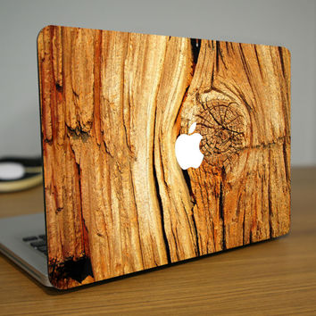 Wooden Texture MacBook Decal