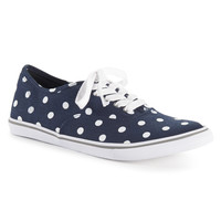 Aeropostale  Womens Polka Dot Low-Top Sneakers - Blue, 6