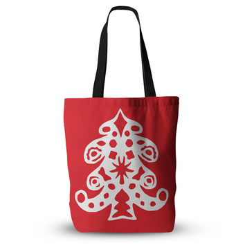 "Miranda Mol ""Noble Pine Red"" Holiday Everything Tote Bag"