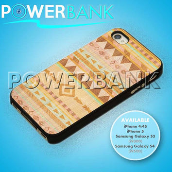 Geometric Aztec Wood Pattern - iPhone 4/4s/5 Case - Samsung Galaxy S3/S4 Case - Black or White