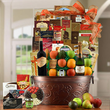 King's Ransom Red Wine -  Fruit & Gourmet Gift Basket