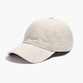 Cotton-Linen Baseball Cap : shopmadewell hats | Madewell