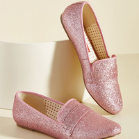 Third Shine's a Charm Loafer in Peony | Mod Retro Vintage Flats | ModCloth.com