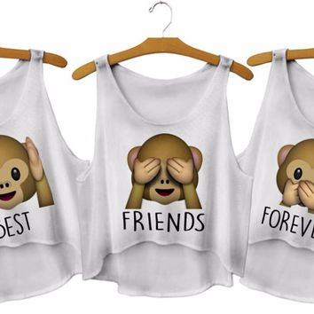 Best Friends Forever Matching Tops - Women's Sleeveless Sexy Crop Tank Tops