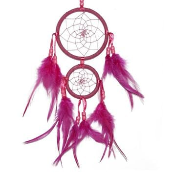 45cm Beautiful Dream Catcher hand-woven Dreamcatcher with White feathers for home wall decorations Car is hanged adorn