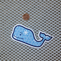 Vineyard Vines Collectors Sticker - Holiday Snowflake Whale