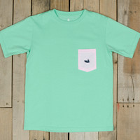 Southern Marsh Stewart Pocket Tee - Seersucker - Short Sleeve - Youth