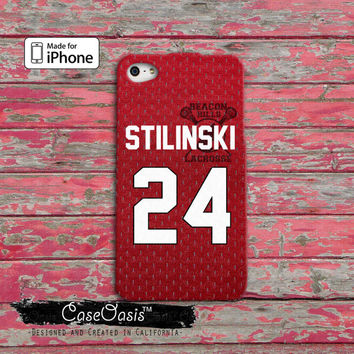 Teen Wolf Inspired Stiles Stilinski Jersey Beacon Hills Lacrosse Alpha Custom iPhone 4 and 4s Case and Custom iPhone 5 and 5s and 5c Case
