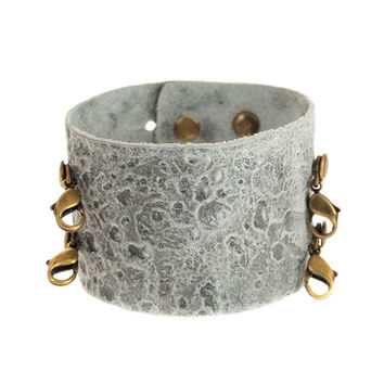 Luna Wide Leather Cuff - Lenny and Eva